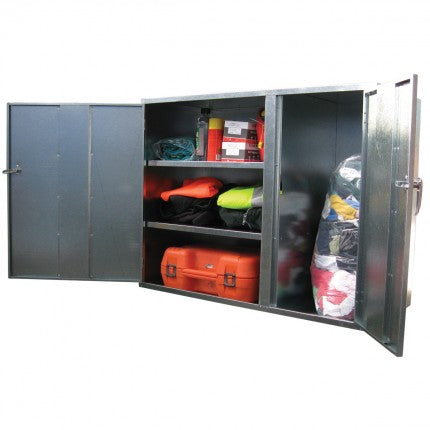 Galvanised Lockable Cabinet - Shelves/Vertical Cupboard - STOREMASTA
