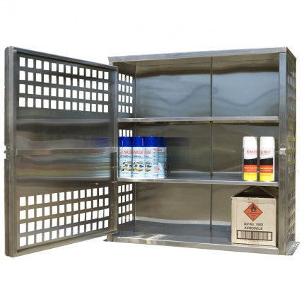 Stainless Steel Aerosol Storage Cage - 108 Can - STOREMASTA