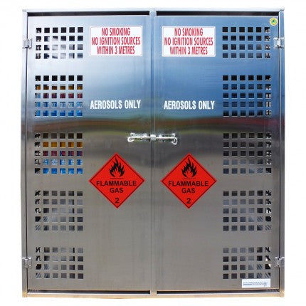 Stainless Steel Aerosol Storage Cage - 432 Can - STOREMASTA