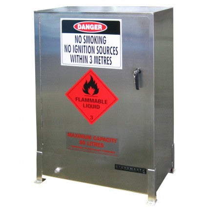 Stainless Steel Heavy Duty Safety Cabinet - 80L - STOREMASTA