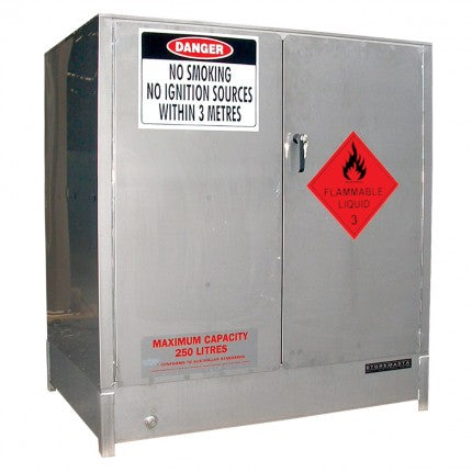 Stainless Steel Heavy Duty Safety Cabinet - 250L - STOREMASTA
