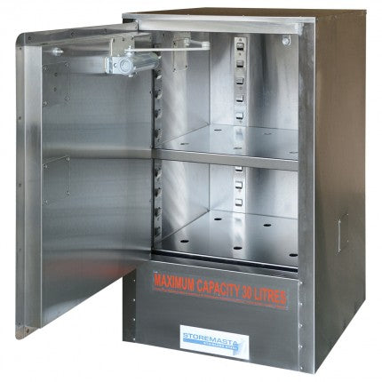 Stainless Steel Safety Cabinet - 30L - STOREMASTA
