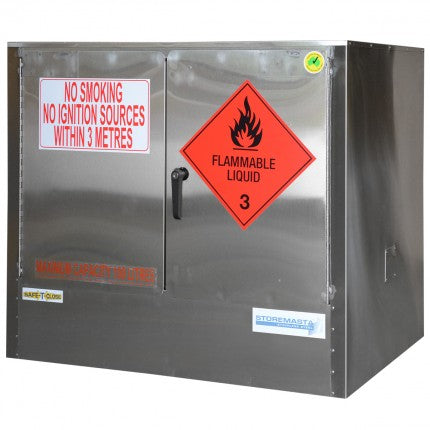 Stainless Steel Safety Cabinet - 100L - STOREMASTA