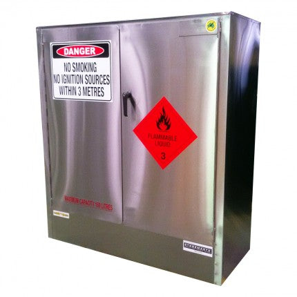 Stainless Steel Safety Cabinet - 160L - STOREMASTA