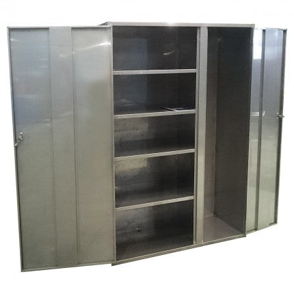 Stainless Steel Lockable Storage Cupboard - Shelves/Vertical Cupboard - STOREMASTA