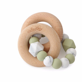 Teether Rattle Spring Lint Green