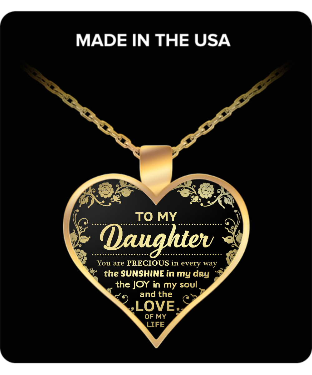 My daughter you are the love of my life pendant necklace aloadofball Image collections