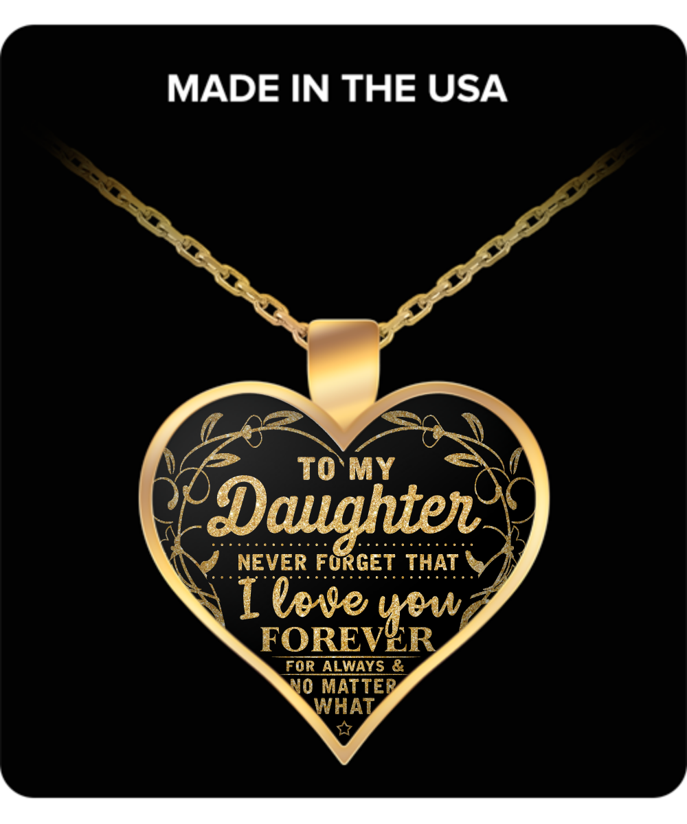 I love my daughter forever pendant necklace homefamilyblessing i love my daughter forever pendant necklace aloadofball Gallery