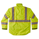 Brahma Endurance 2 in 1 Safety Jacket - Yellow - back
