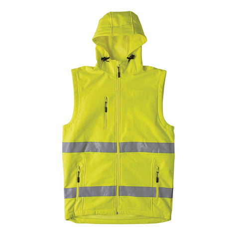 Soft Shell Day/Night Hoodie Vest - Brahma Industrial Workwear