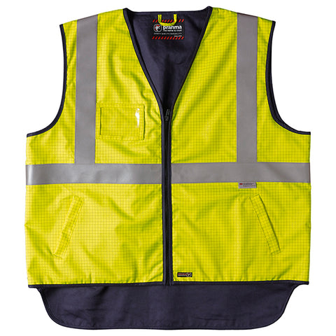 Titanium Vest - Flame Retardant & Anti Static - Brahma Industrial Workwear