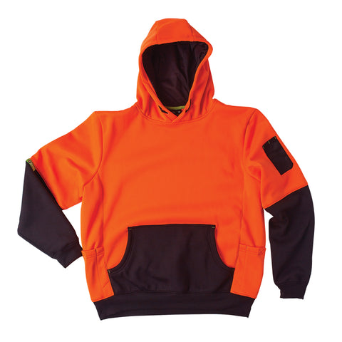 Two Tone Hoodie Brushed Fleece Pullover - Brahma Industrial Workwear