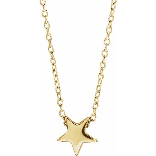14K Yellow Star Necklace - Latoya Boyd Jewelry