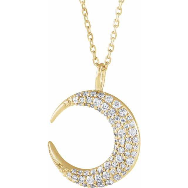 14K Diamond Crescent Moon Necklace - Latoya Boyd Jewelry