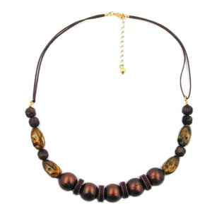 necklace dark brown/ silky shimmering