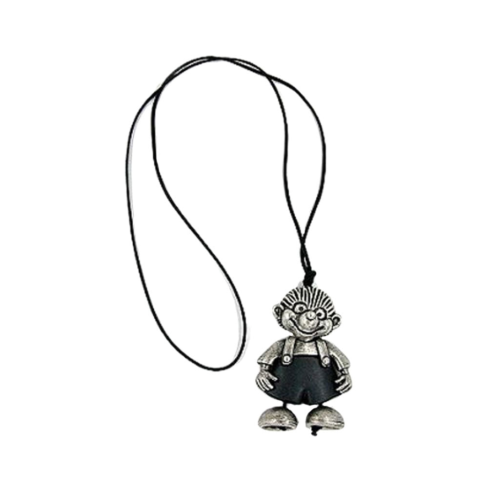 necklace hedgehog silver-antique 90cm