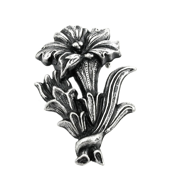 brooch gentian antique silver coloured