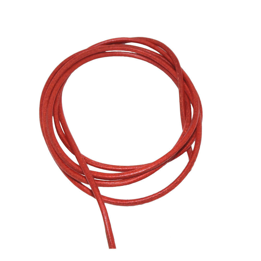 leather cord red 2mm 100cm
