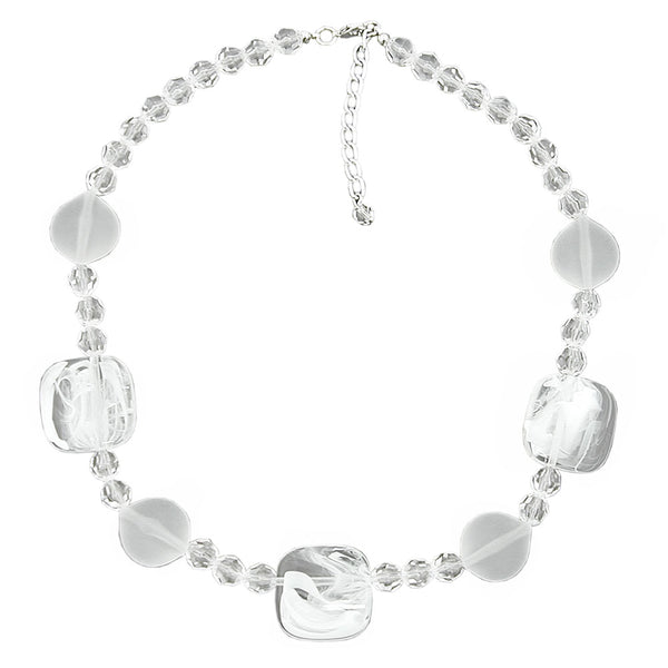 necklace white-transparent 45cm