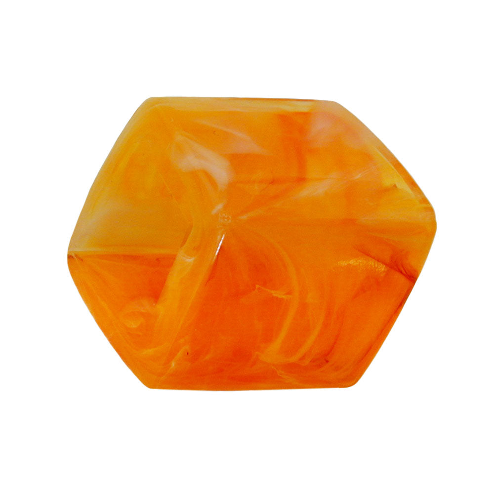 scarf bead slanted orange marbled