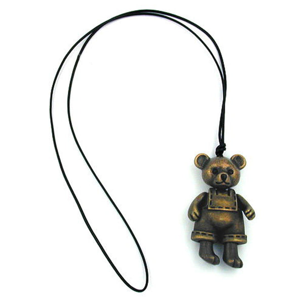 necklace bear antique brass 90cm