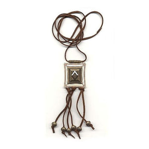 necklace square ivory brass