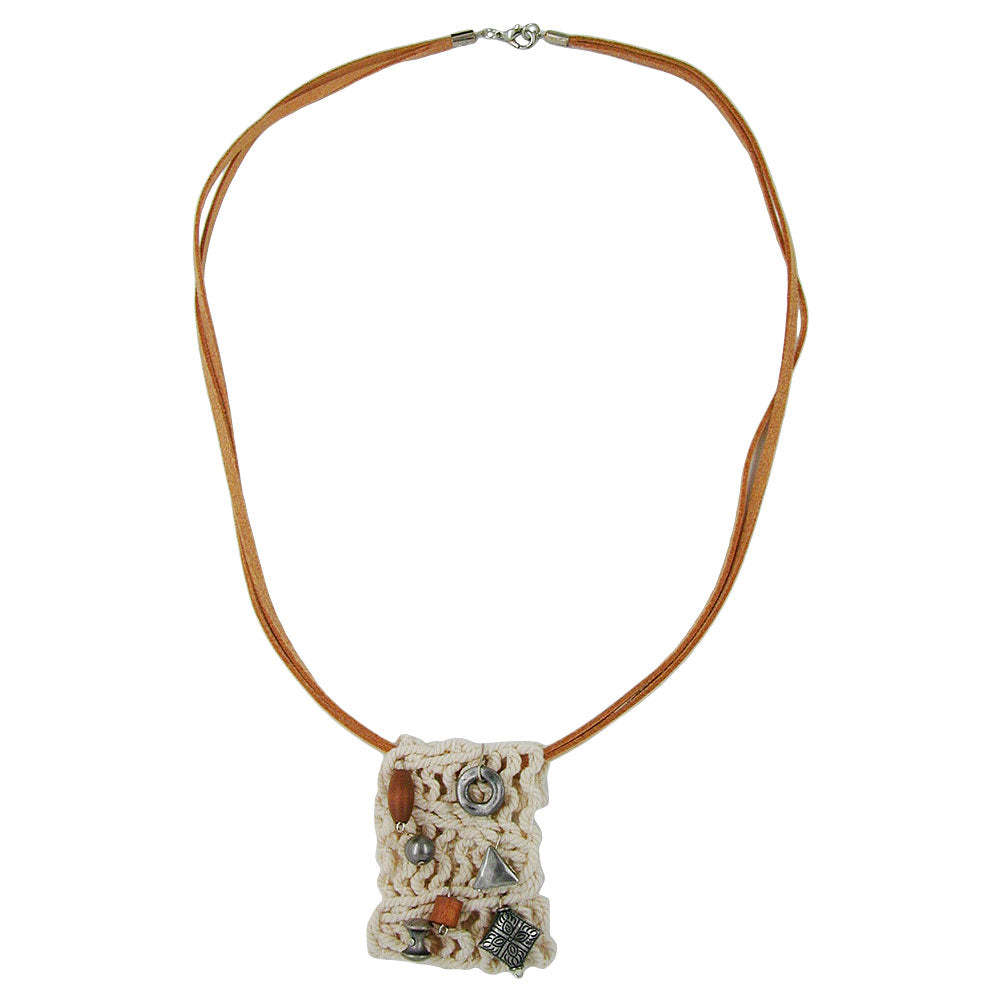 necklace macrame with beads