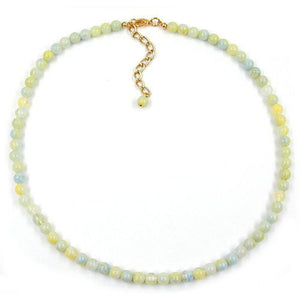 bead chain beads 6mm green-white