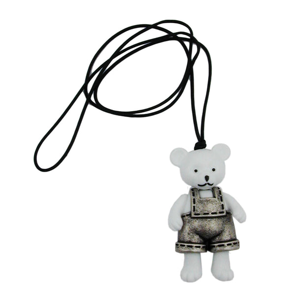 necklace large polar bear white 90cm