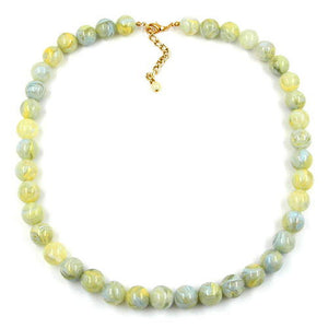 bead chain beads 12mm yellow-green 55cm