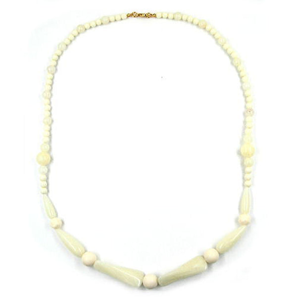 necklace beads ivory-white