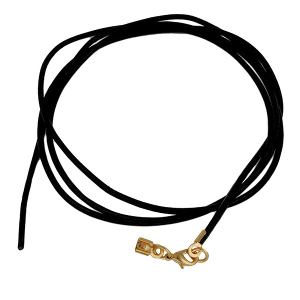 band leather black gold clasp 100cm