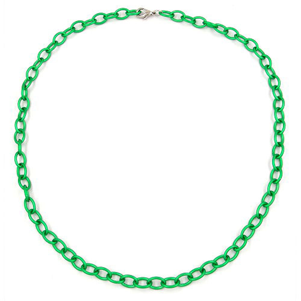 necklace green anchor chain 7mm