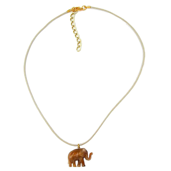 necklace elephant brown
