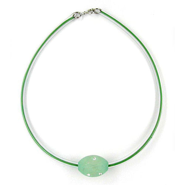 necklace olive mint/transparent
