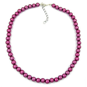necklace beads 8mm purple/wax coloured