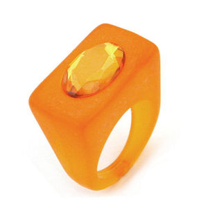 ring plastic bright orange