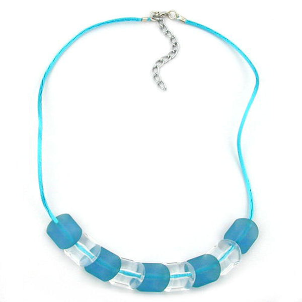 necklace beads turquoise 42cm