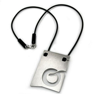 necklace initiale o stainless steel 42cm