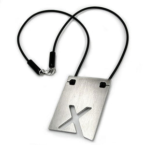 necklace initiale x stainless steel 42cm