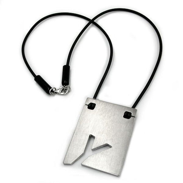necklace initiale y stainless steel 42cm