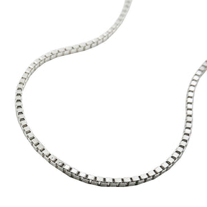 Box Chain Diamond Cut 1.3mm Silver 925