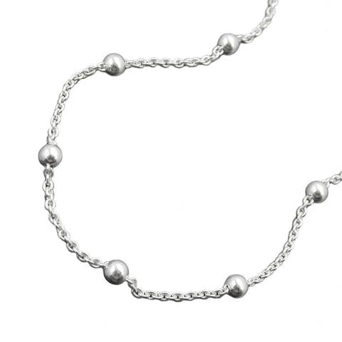 ankle chain with 12 balls silver 925 25cm