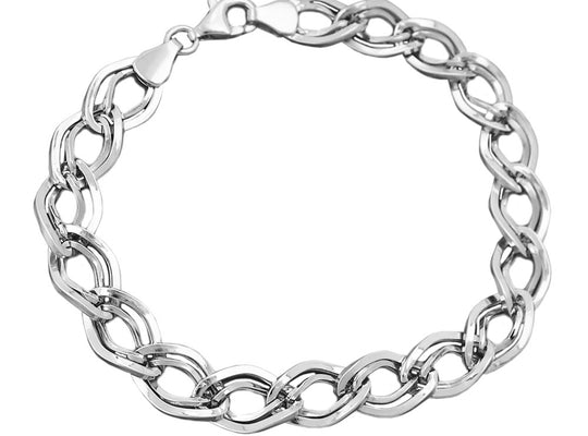 bracelet fancy pattern silver 925 19cm