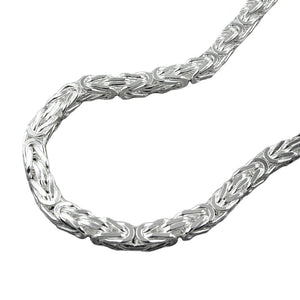 Byzantine Chain 3mm Square Silver 925