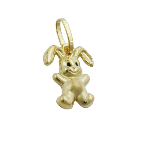 pendant small rabbit 9k gold