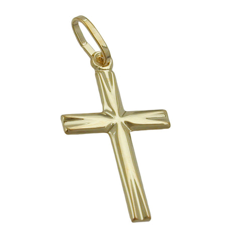 pendant small cross 14kt gold