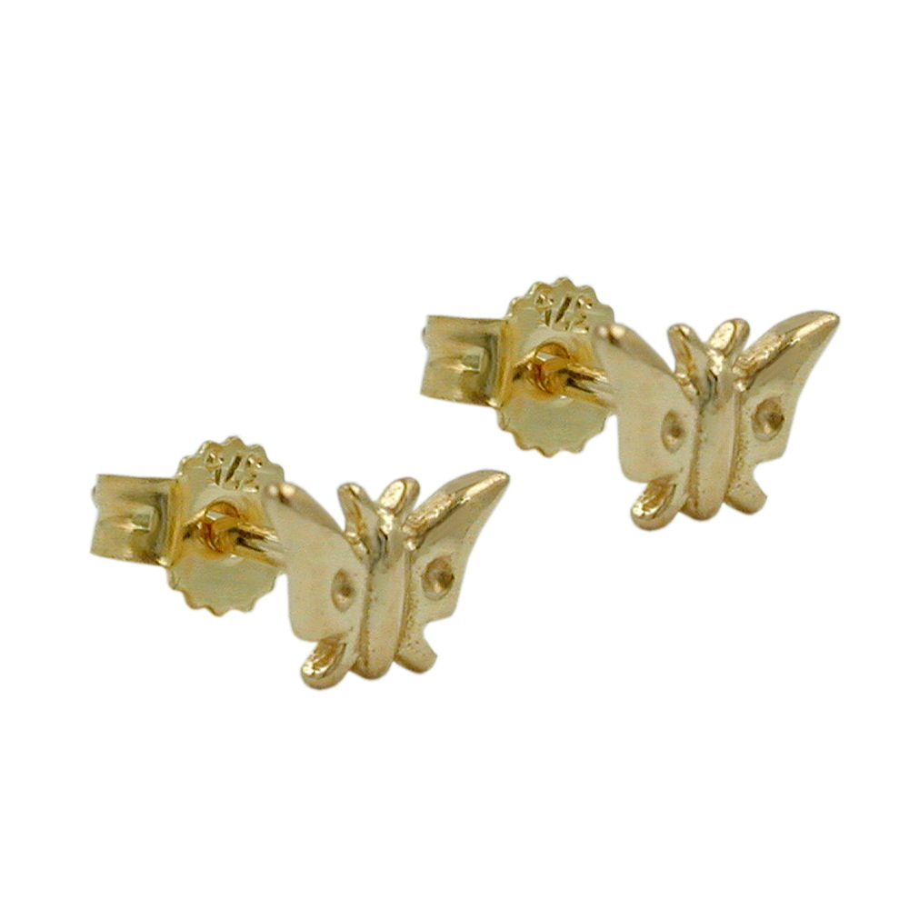 stud earrings butterfly 9kt gold