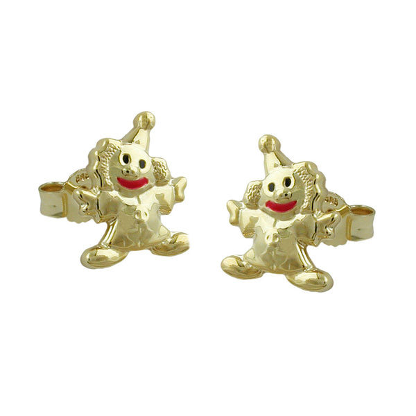 earrings clown 9k gold