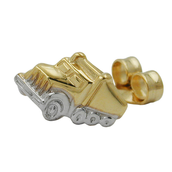 earstud single truck 9k gold